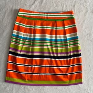 Kate Spade colorful striped skirt. Size 0